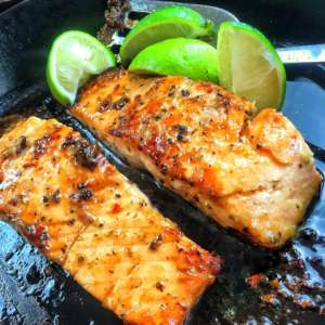 Brown Sugar & Mustard Glazed Salmon