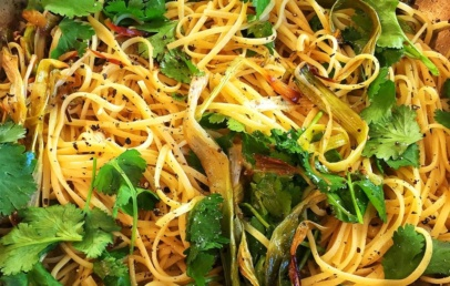 Roasted Leek and Lemon Linguine