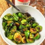 Charred Brussels Sprout Salad with Grape Jelly Vinaigrette