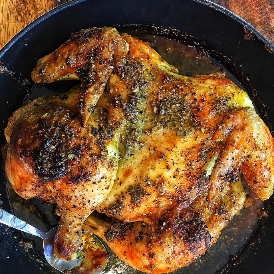 Pan-Roasted Chicken With Herb Compound Butter Recipe — Dishmaps