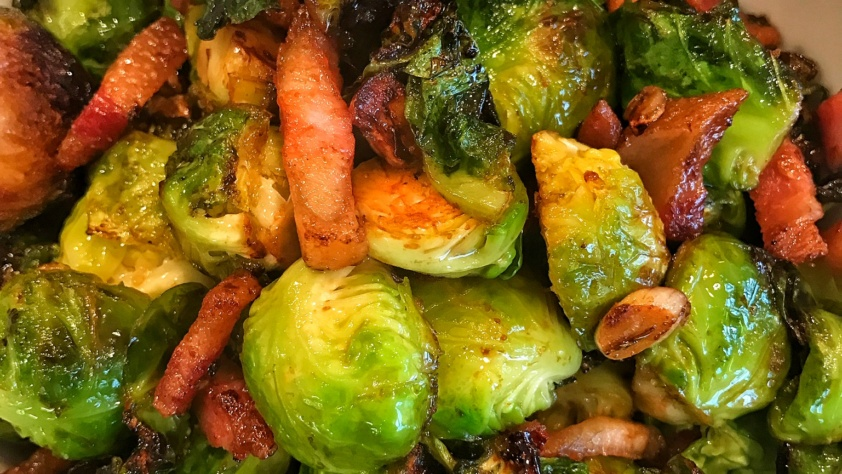 Brussels Sprouts with Pork Jowl