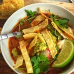 Spicy Tortilla Soup & Skinny Sweet Cornbread