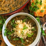 Vegan Collard Green Gumbo & Hot Water Cornbread