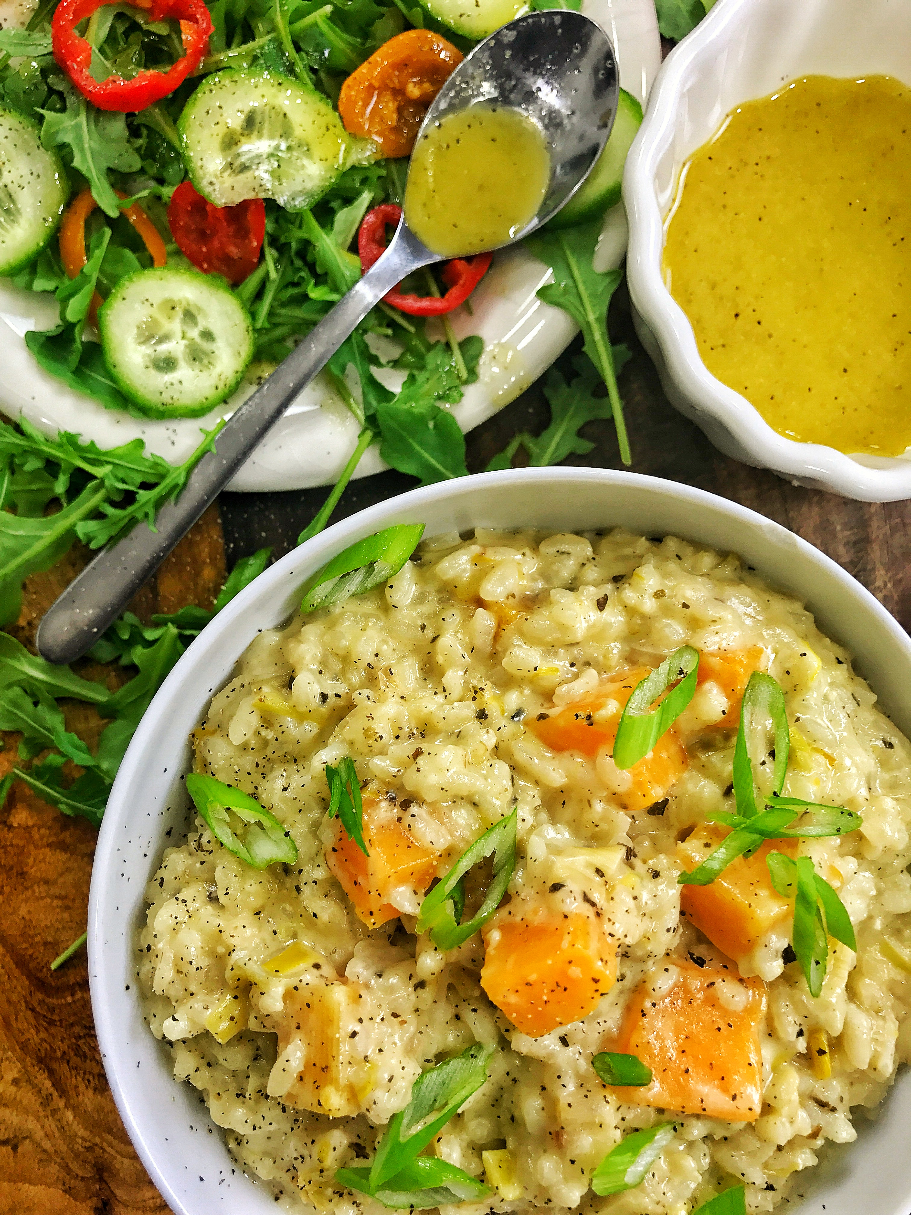 Vegan Caramelized Leek & Butternut Squash Risotto