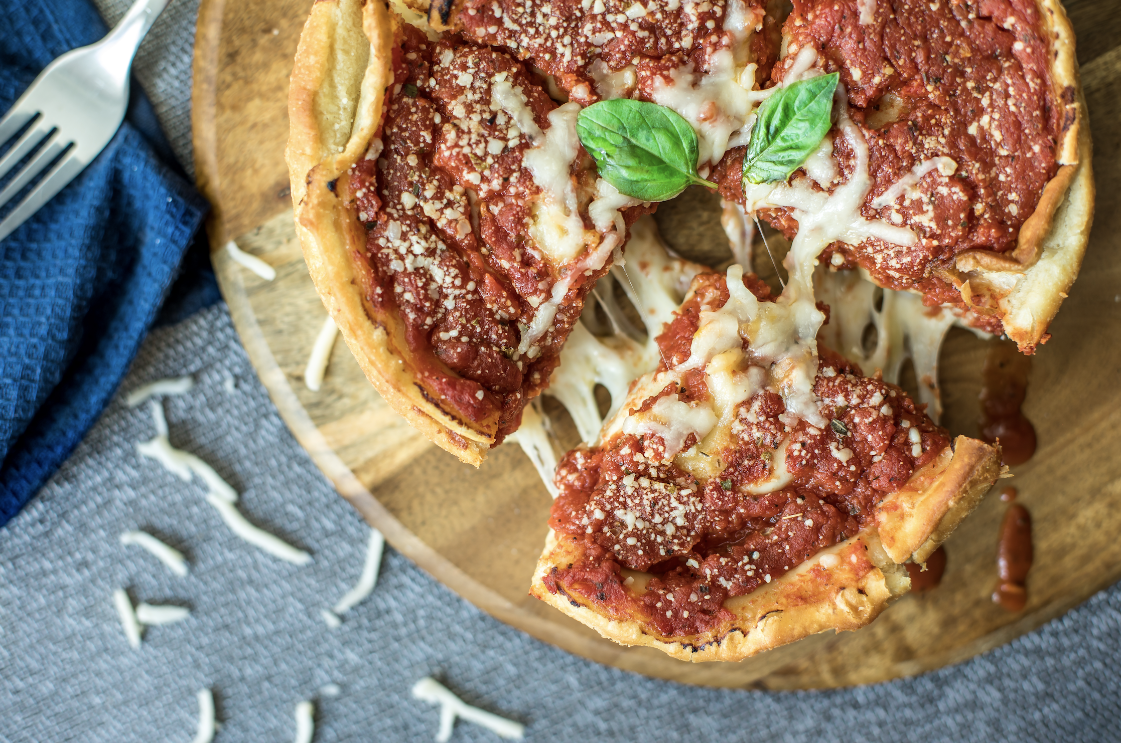 Keto Deep Dish Pizza