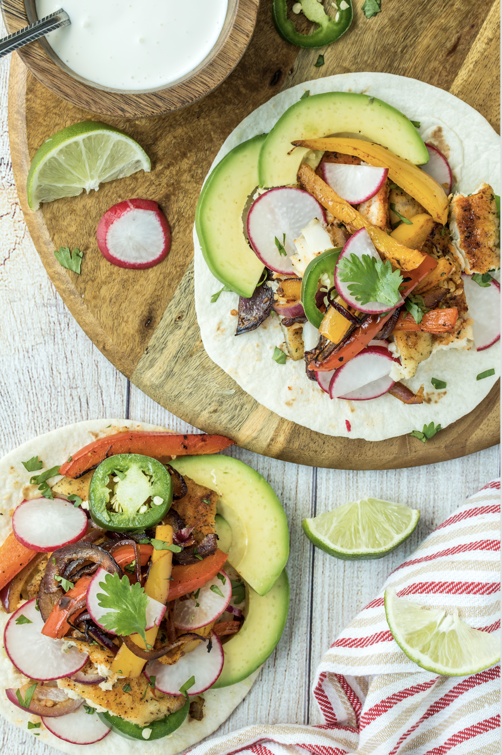 Keto Sheet Pan Catfish Fajitas