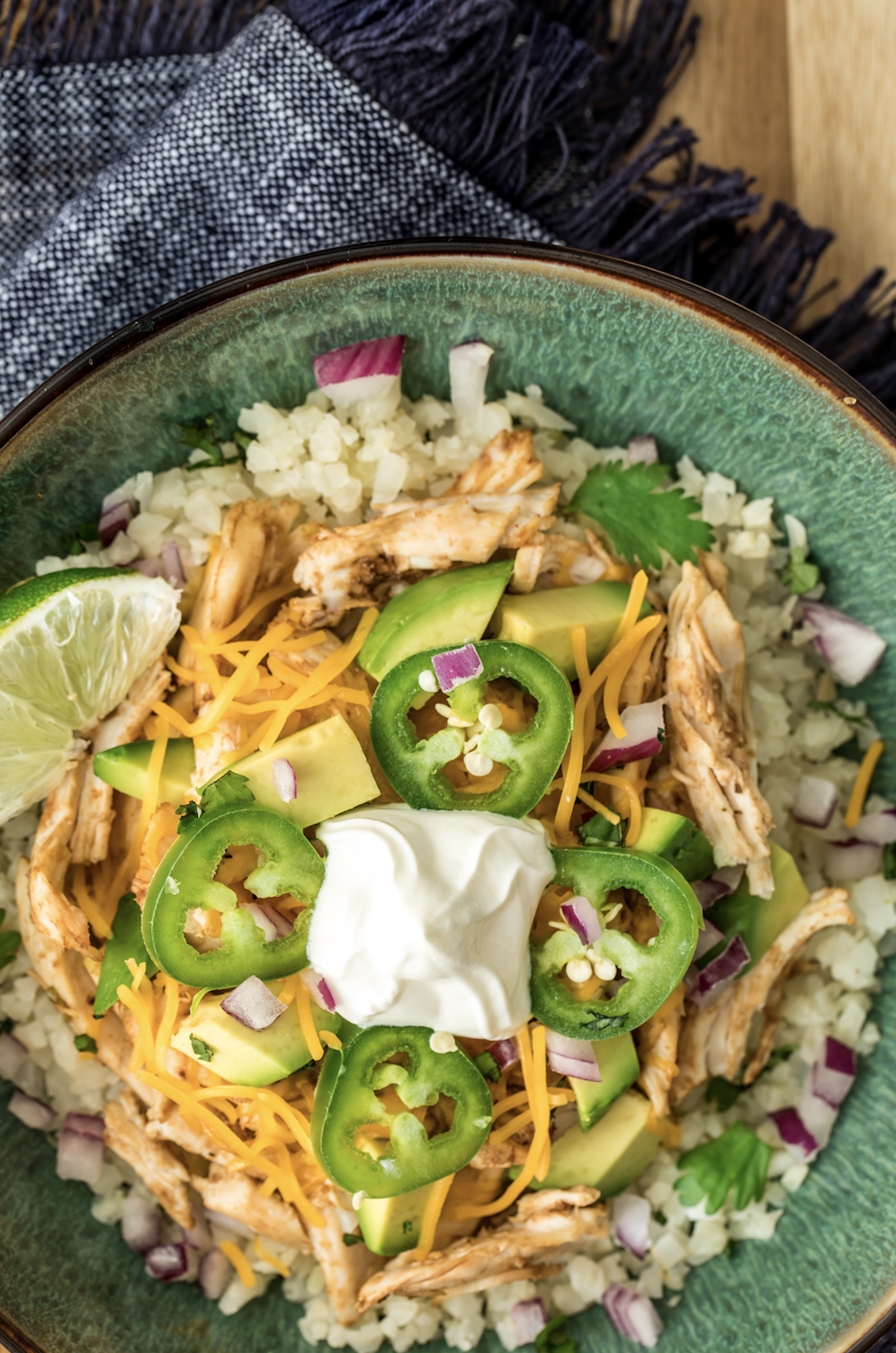 Keto Chicken Enchilada Bowls