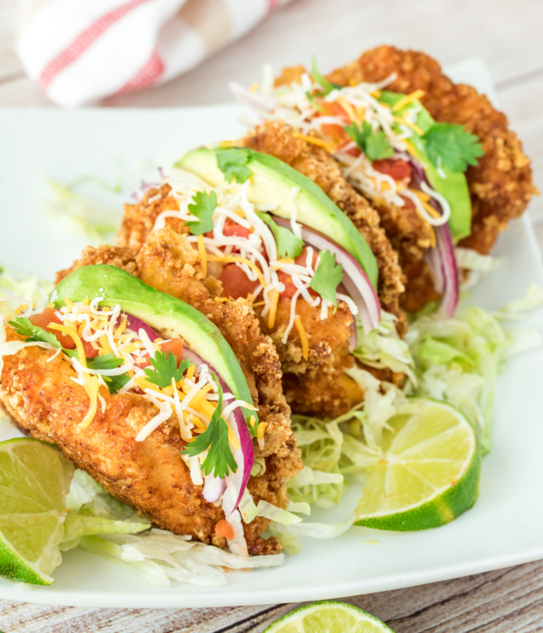 Keto Inside Out Chicken Tacos