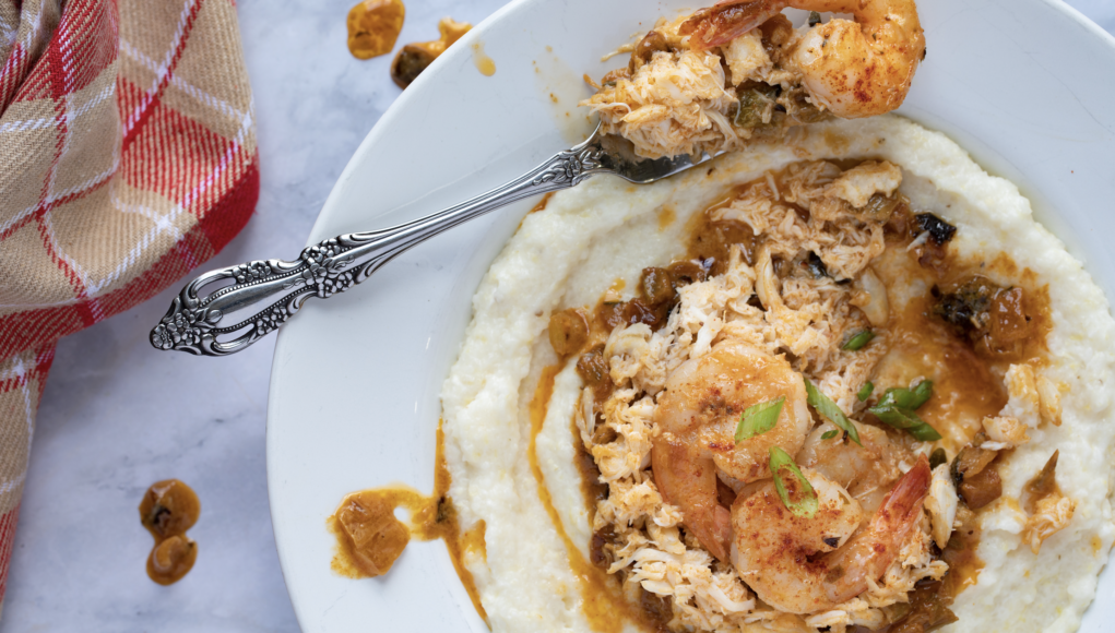 Keto Shrimp & Crab Over Grits